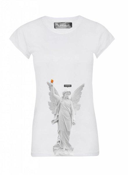 T-Shirt Skinny Cut Damen - Cheers - Statue Collection
