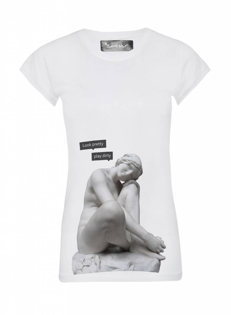 T-Shirt Skinny Cut Damen - Look Pretty - Statue Collection