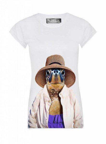 T-Shirt Skinny Cut Damen - Turtle - Zoo Portraits