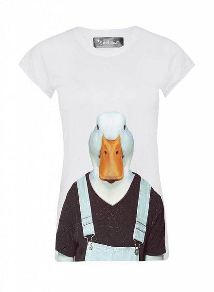 T-Shirt Skinny Cut Women - Duck - Zoo Portraits