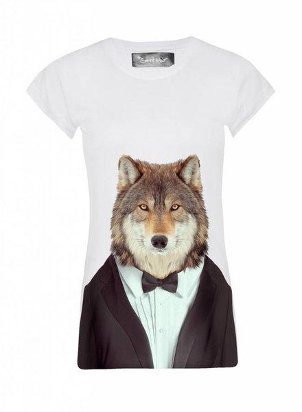 T-shirt Skinny Women Cut - Wolf - Zoo Portraits