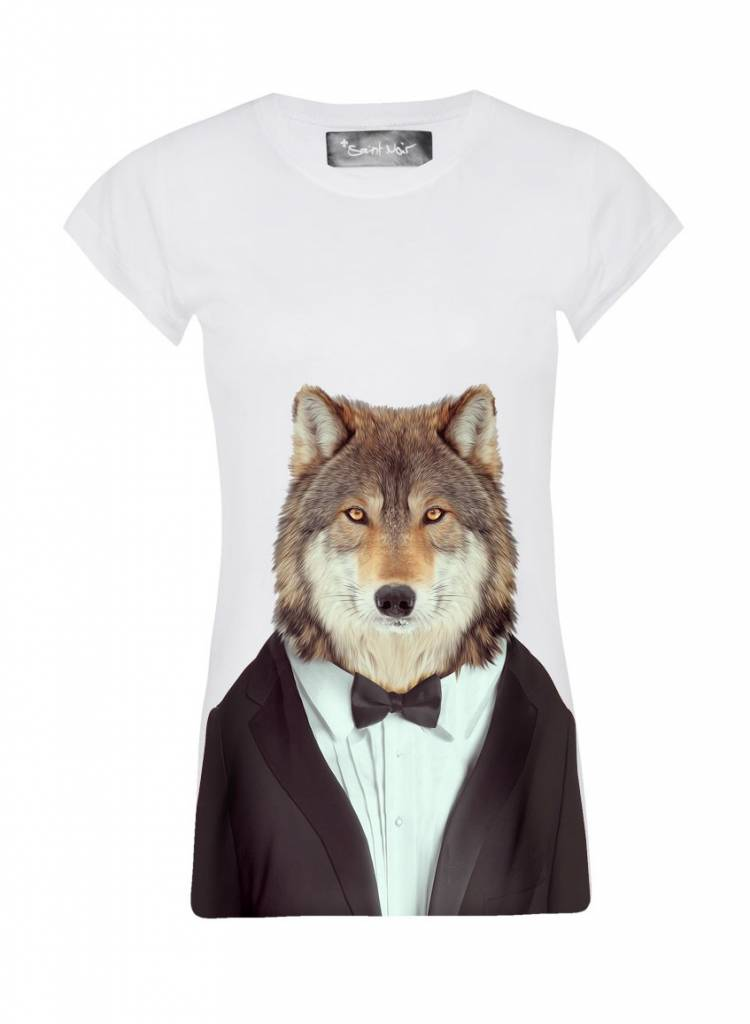 T-Shirt Skinny Cut Damen - Wolf - Zoo Portraits