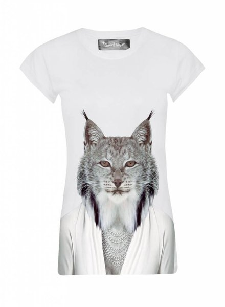 T-Shirt Skinny Cut Women - Lynx - Zoo Portraits