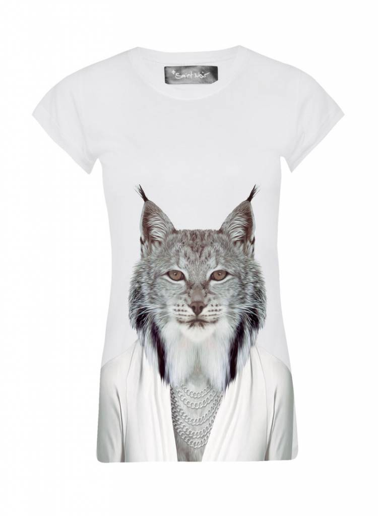T-Shirt Skinny Cut Damen - Lynx - Zoo Portraits