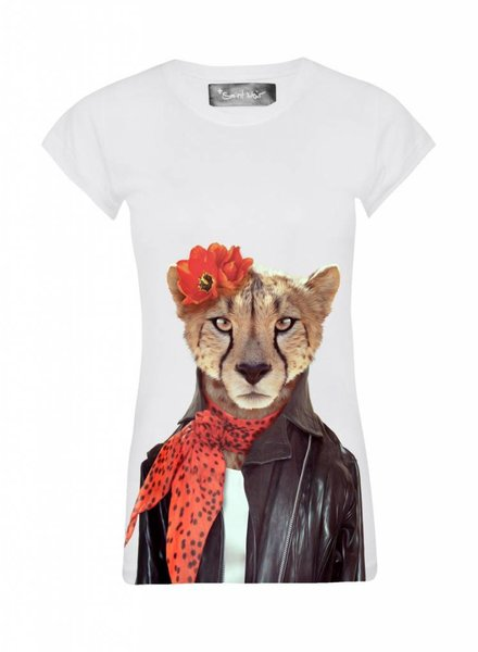 T-Shirt Skinny Cut Women - Cheetah - Zoo Portraits
