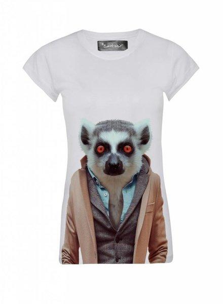 T-Shirt Skinny Cut Women - Lemur - Zoo Portraits