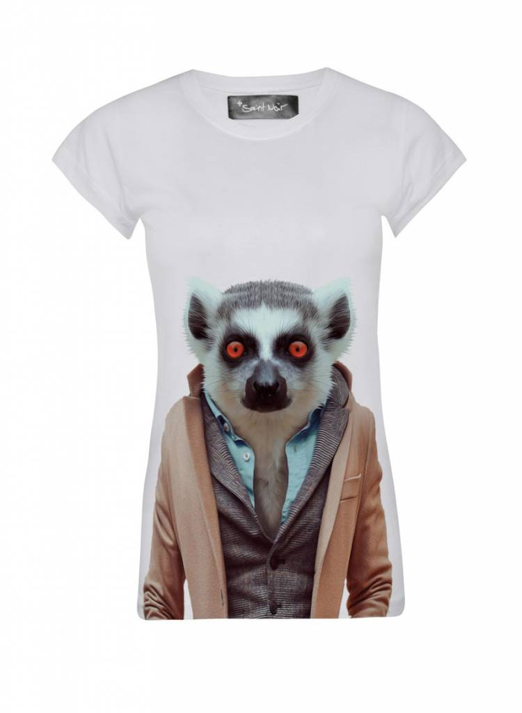 T-Shirt Skinny Cut Damen - Lemur - Zoo Portraits