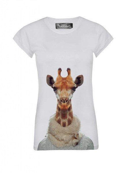T-Shirt Skinny Cut Damen - Giraffe - Zoo Portraits