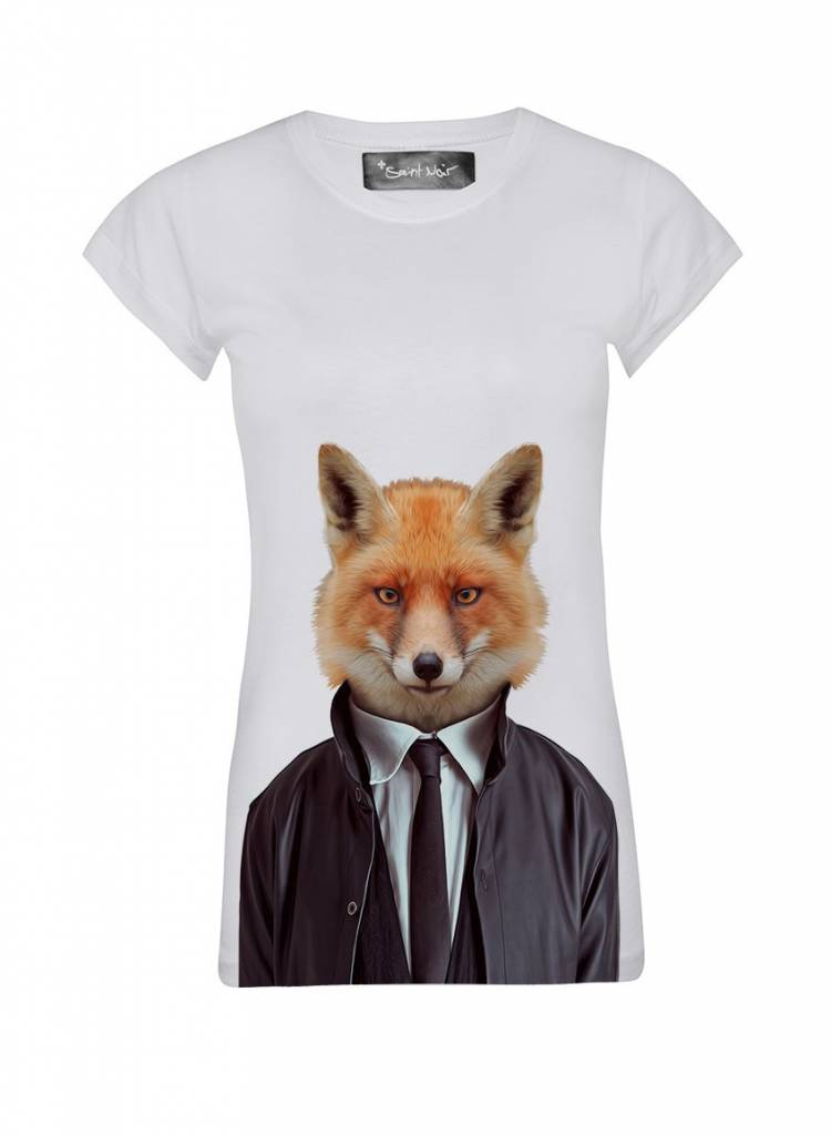 T-Shirt Skinny Cut Damen - Fox - Zoo Portraits