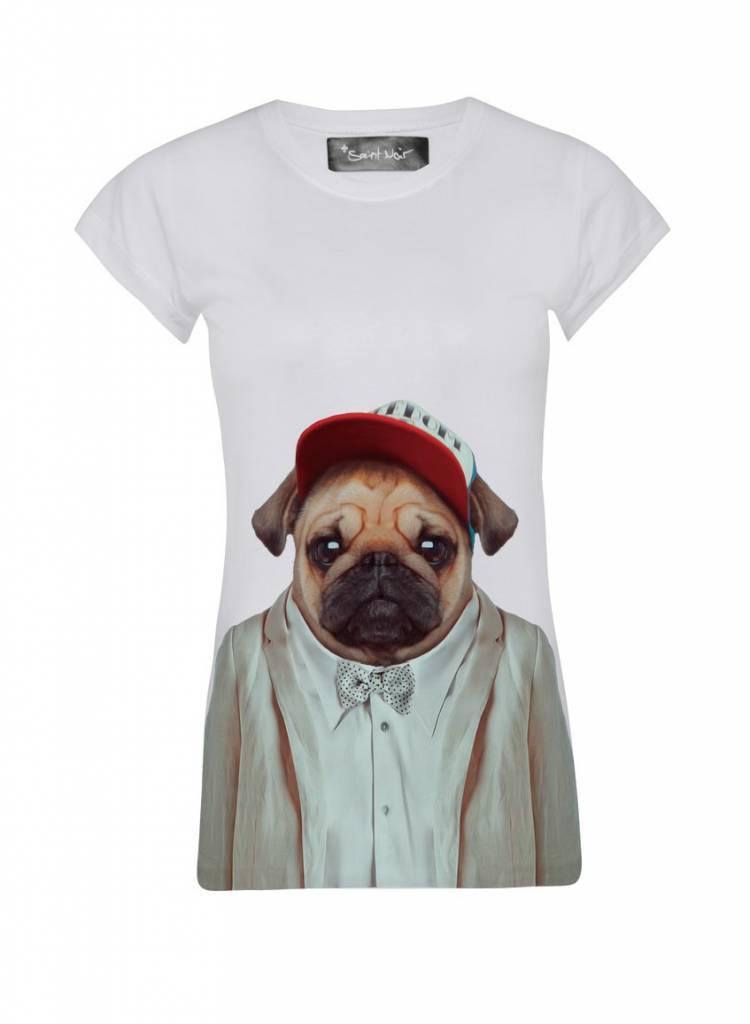 T-Shirt Skinny Cut Women - Pug - Zoo Portraits