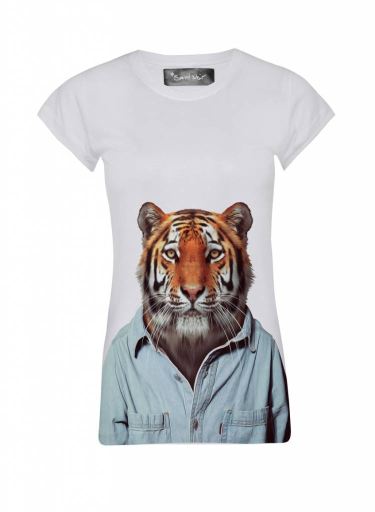 T-Shirt Skinny Cut Damen - Tiger - Zoo Portraits