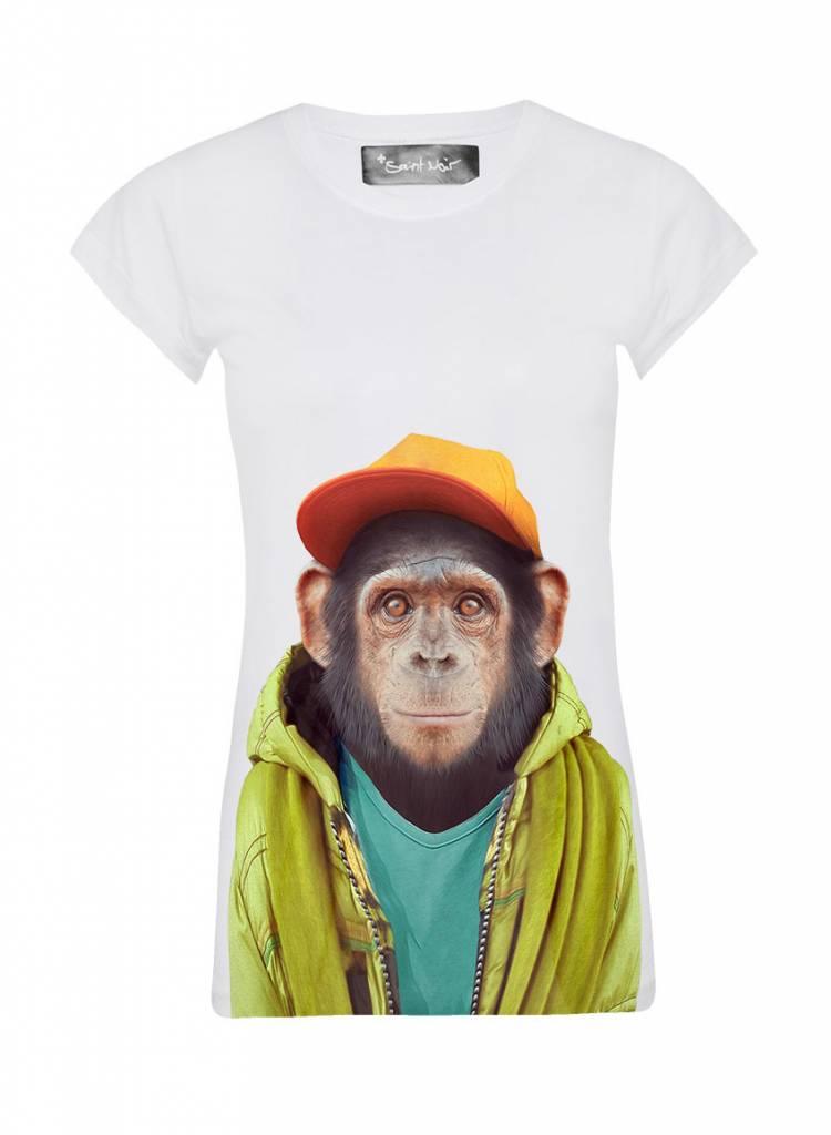 T-Shirt Skinny Cut Damen - Chimpanzee - Zoo Portraits
