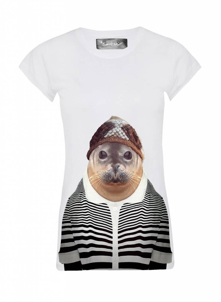 T-shirt Skinny Women Cut - Seal - Zoo Portraits