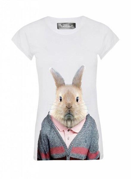 T-Shirt Skinny Cut Damen - Rabbit - Zoo Portraits