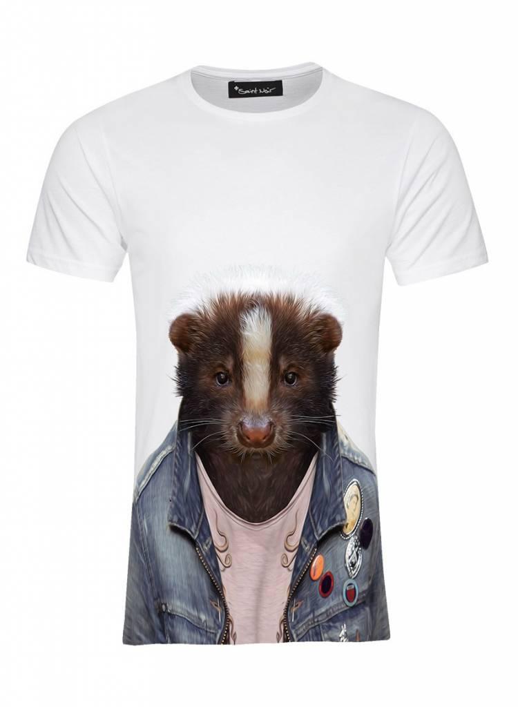 T-Shirt Men - Skunk - Zoo Portraits