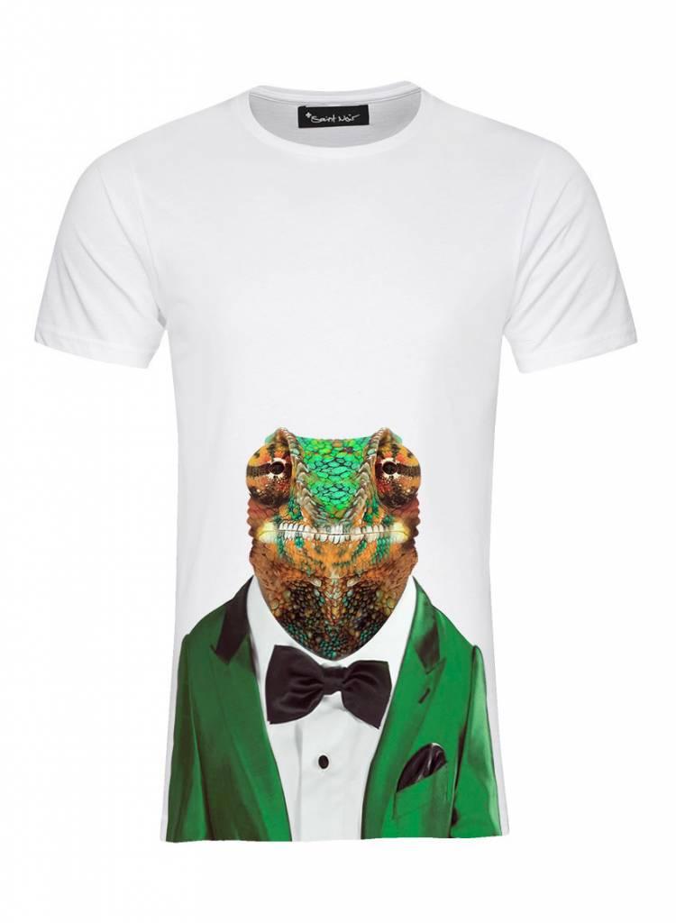 T-Shirt Herren - Chameleon - Zoo Portraits