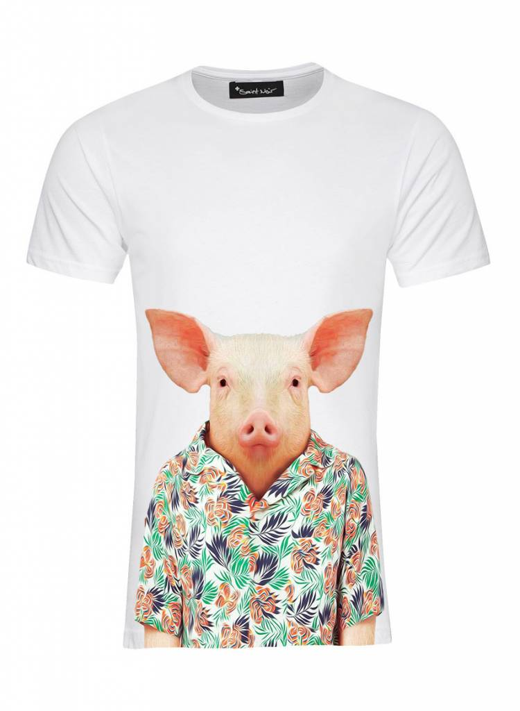 T-Shirt Men - Pig - Zoo Portraits