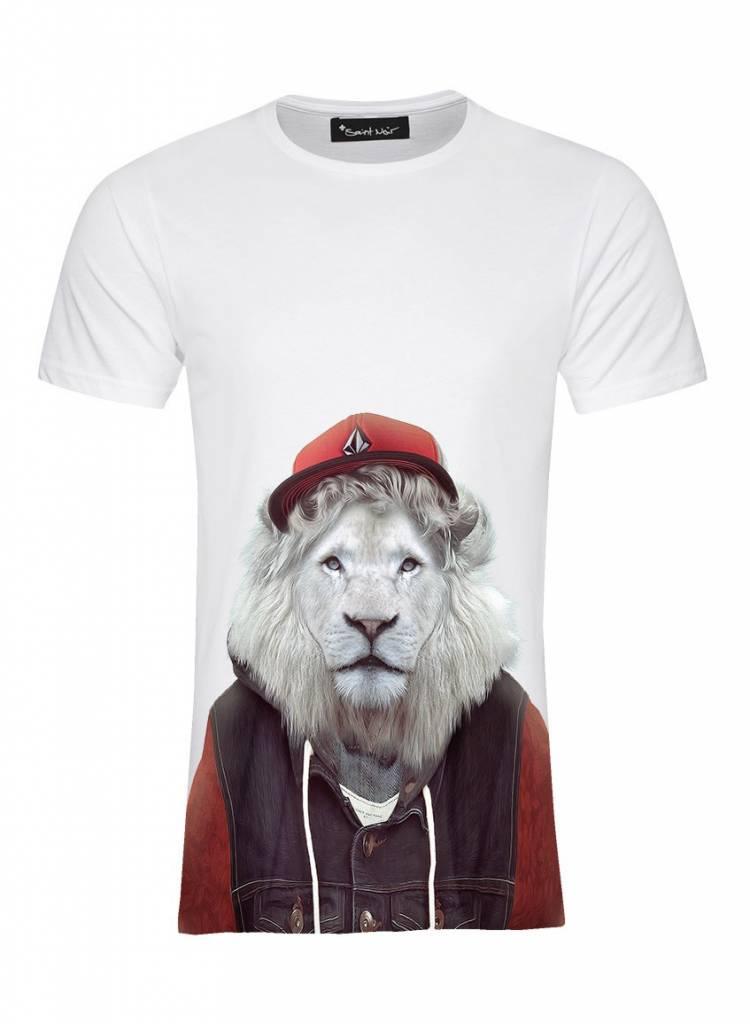 T-Shirt Men - White Lion - Zoo Portraits