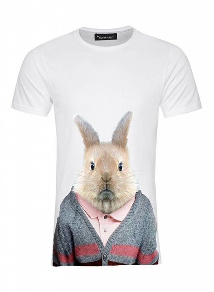 T-Shirt Men - Rabbit - Zoo Portraits