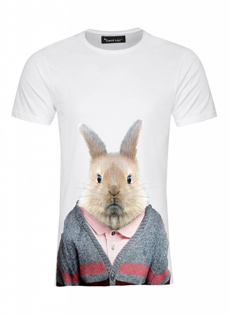 T-Shirt Herren - Rabbit - Zoo Portraits