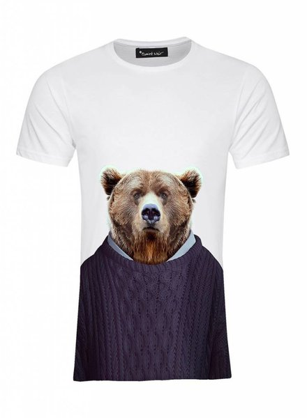 T-Shirt Men - Grizzly - Zoo Portraits