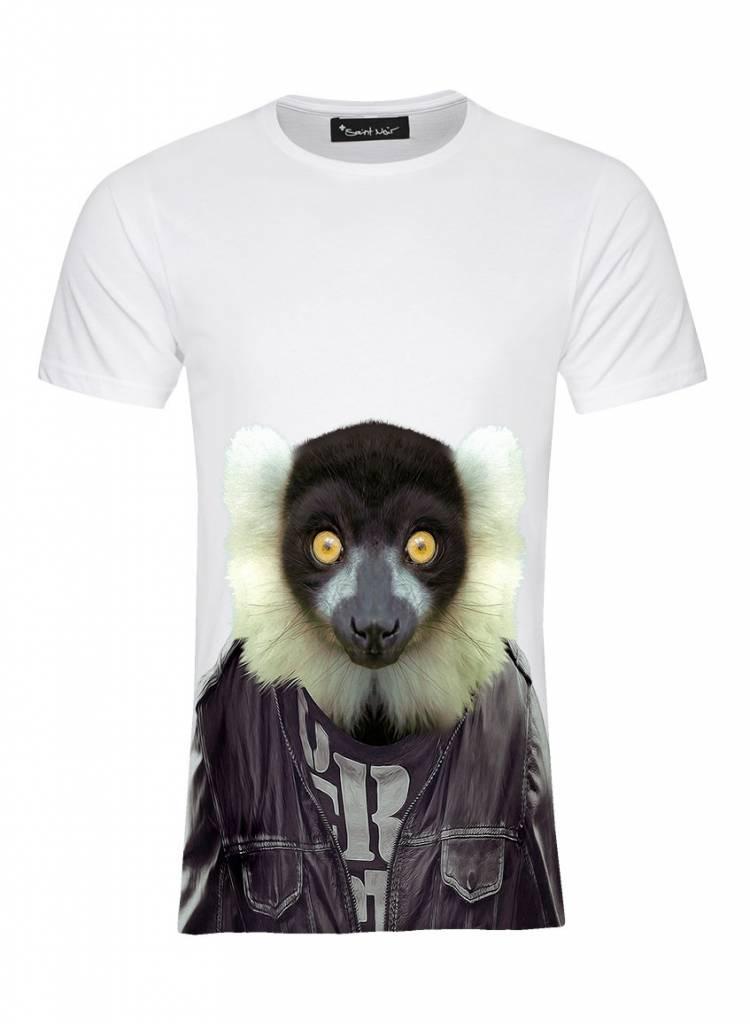 T-Shirt Herren - Ruffed Lemur - Zoo Portraits