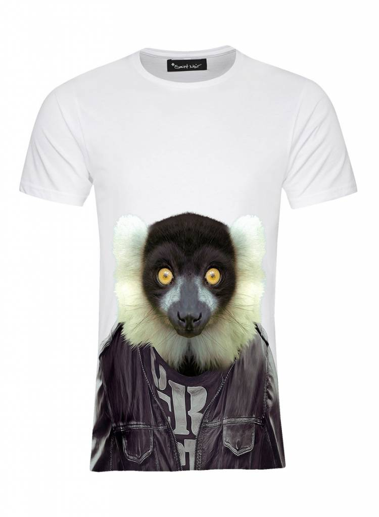 T-Shirt Men - Ruffed Lemur - Zoo Portraits