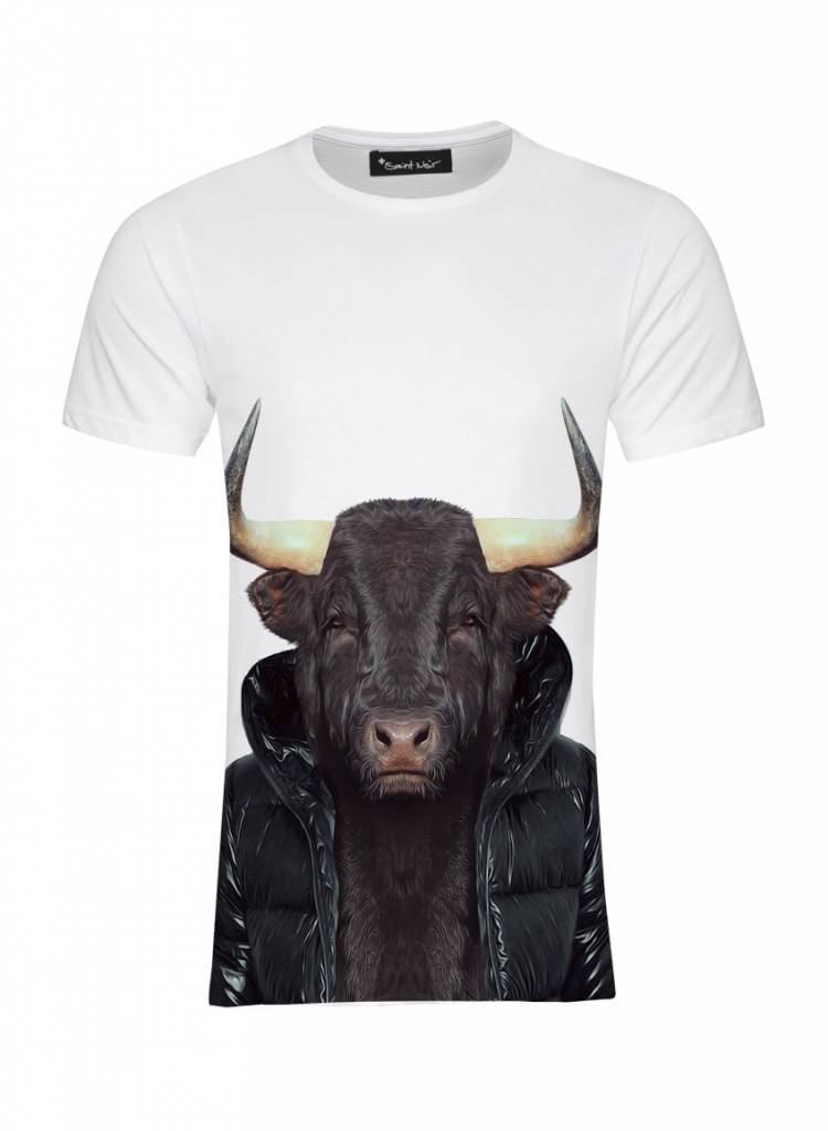 T-Shirt Herren - Bull - Zoo Portraits