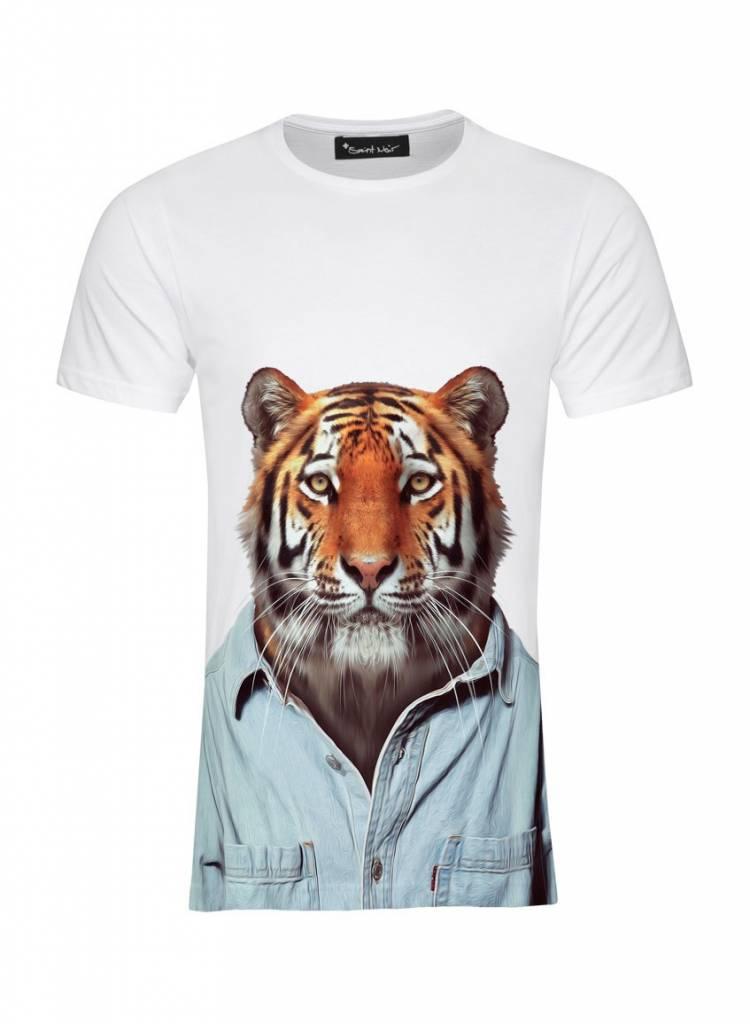 T-Shirt Herren - Tiger - Zoo Portraits