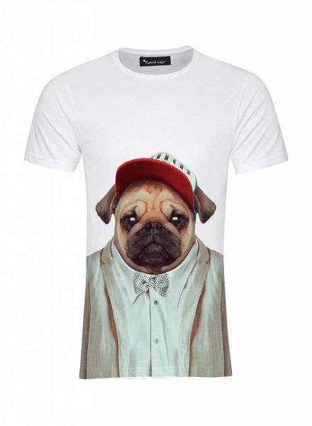 T-Shirt Herren - Pug - Zoo Portraits