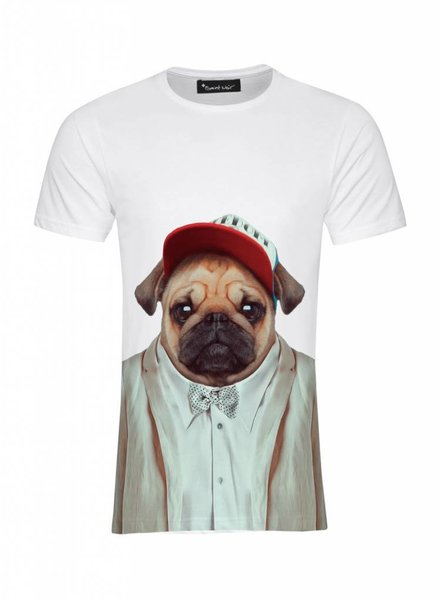 T-Shirt Men - Pug - Zoo Portraits