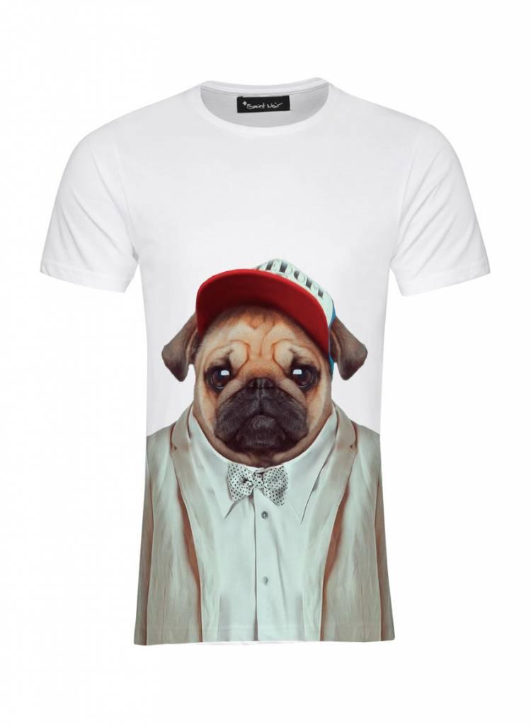 T-Shirt Men - Pug - Zoo Portraits