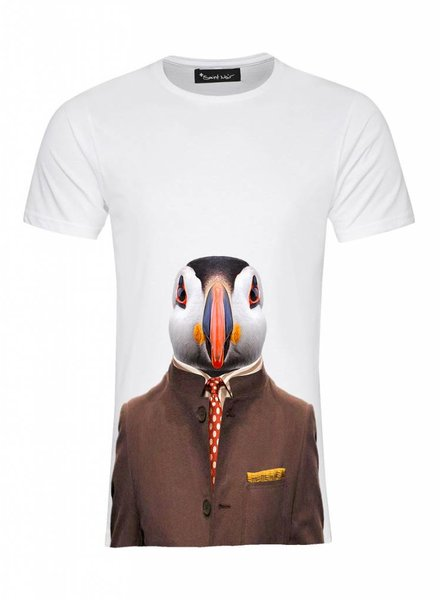 T-Shirt Men - Atlantic Puffin - Zoo Portraits