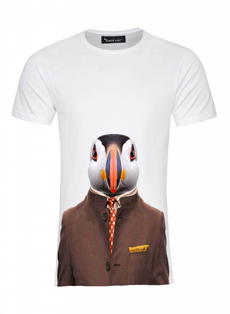 T-Shirt Herren - Atlantic Puffin - Zoo Portraits