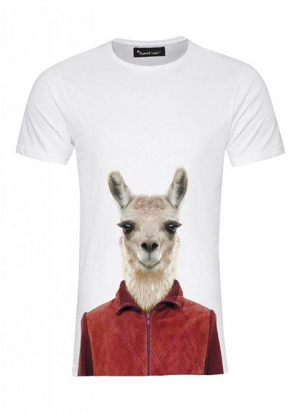 T-Shirt Men - Llama - Zoo Portraits