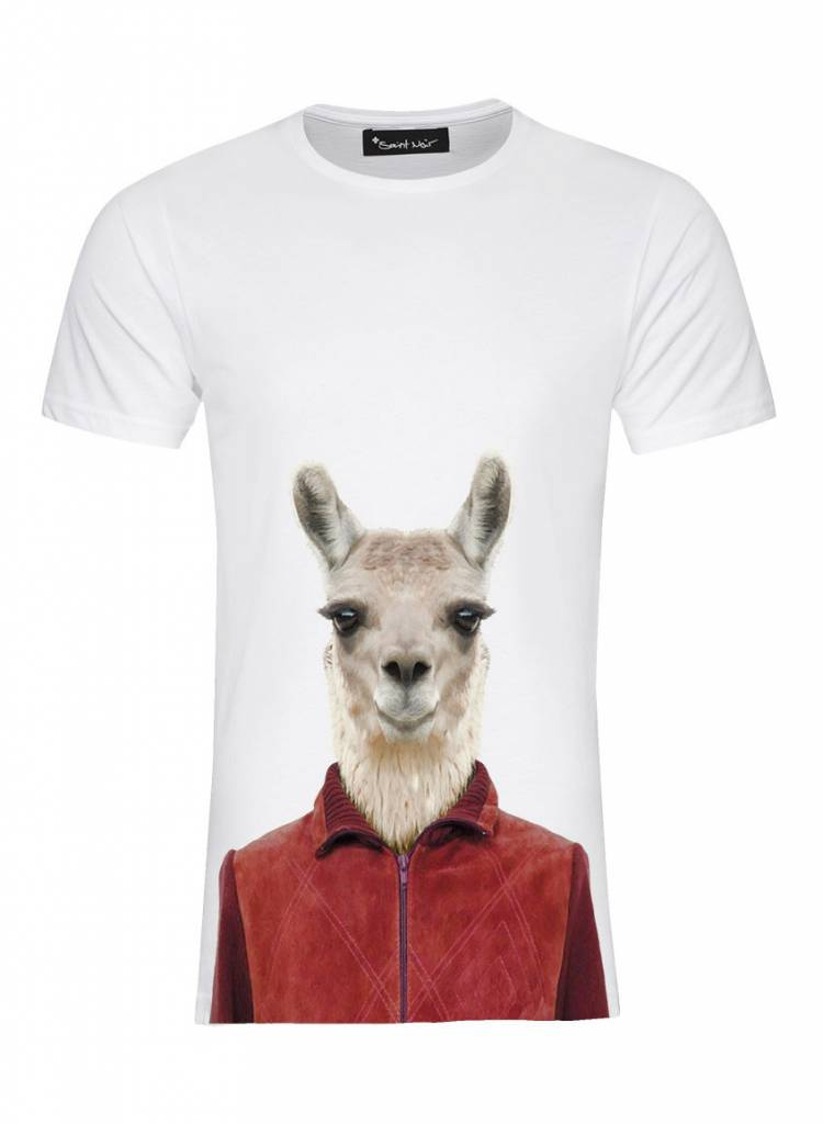 T-Shirt Herren - Llama - Zoo Portraits
