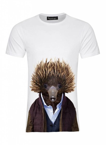 T-Shirt Men - Echidna - Zoo Portraits