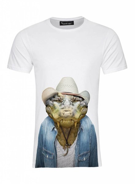 T-Shirt Men - Crocodile - Zoo Portraits