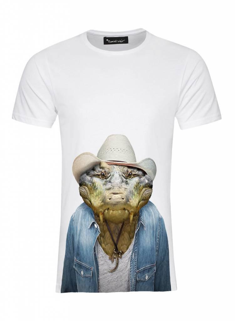 T-Shirt Herren - Crocodile - Zoo Portraits