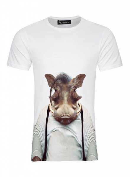 T-Shirt Men - Warthog - Zoo Portraits