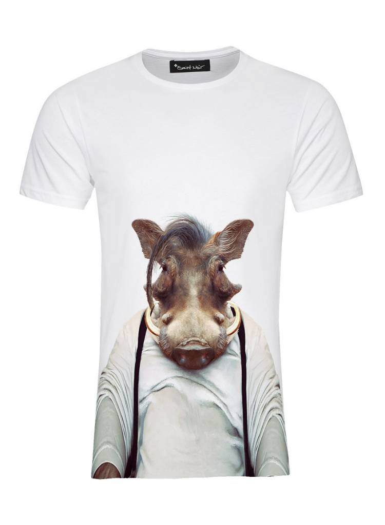 T-Shirt Herren - Warthog - Zoo Portraits