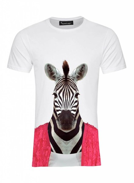 T-Shirt Men - Zebra - Zoo Portraits