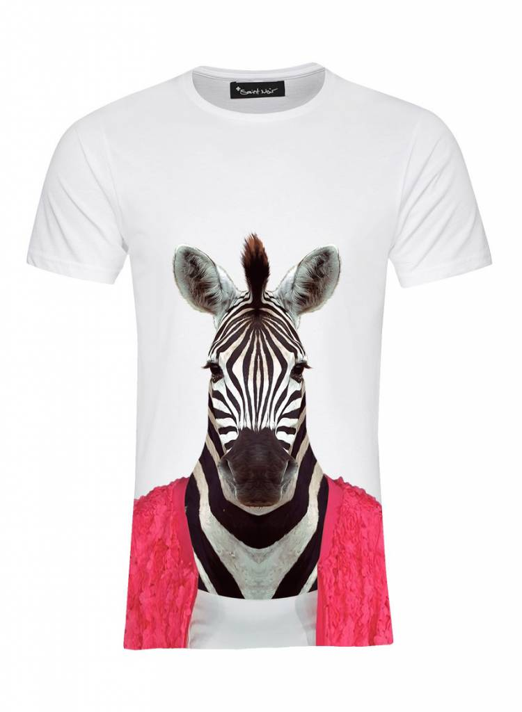 T-Shirt Men - Zebra - Zoo Portraits