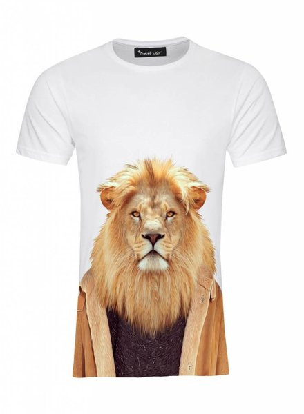 T-Shirt Men - Lion - Zoo Portraits