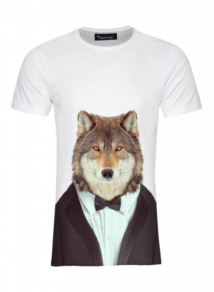 T-Shirt Men - Wolf - Zoo Portraits
