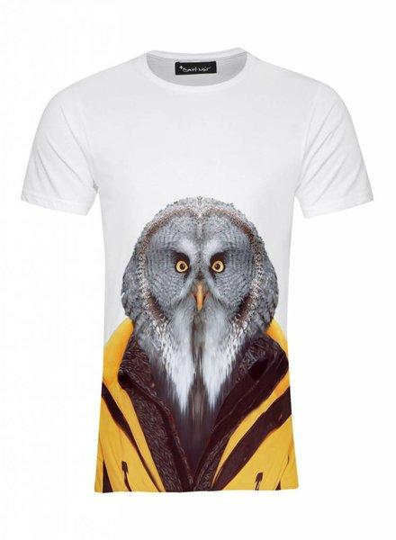 T-Shirt Men - Owl - Zoo Portraits