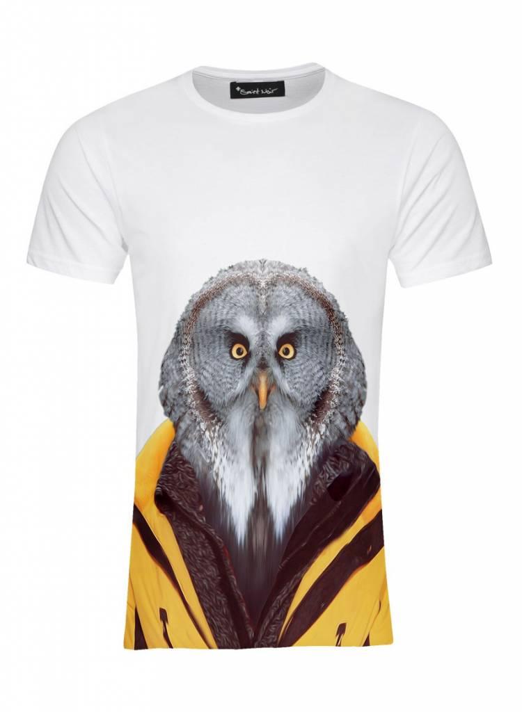 T-Shirt Herren - Owl - Zoo Portraits