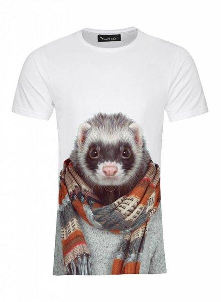 T-Shirt Herren - Ferret - Zoo Portraits