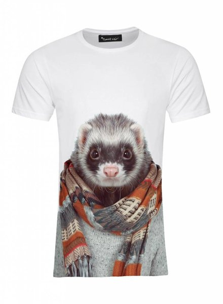 T-Shirt Men - Ferret - Zoo Portraits