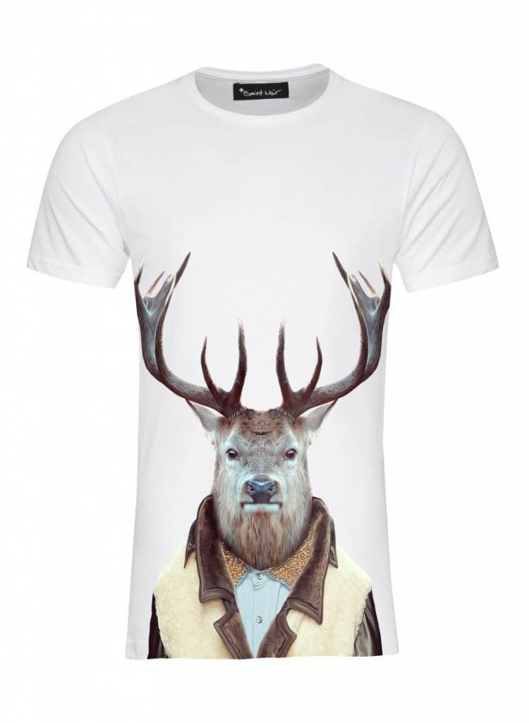 T-Shirt Herren - Stag - Zoo Portraits